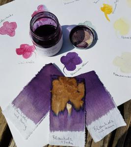 Kraut trifft Malerei | Mischtechnik / Mixed Media, Pigmente