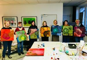 Lotus Painting Starter Workshop - Malen auf echten Lotusblättern in Frankfurt (Main) | Öl