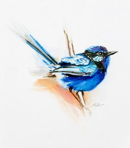 Vögel und anderes Federvieh   Aquarell