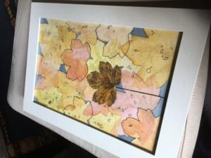 Mal mal Herbst! | Aquarell, Zeichnen, Collage, Mischtechnik / Mixed Media, Gouache, Papier, Upcycling, Kohle, Bleistift