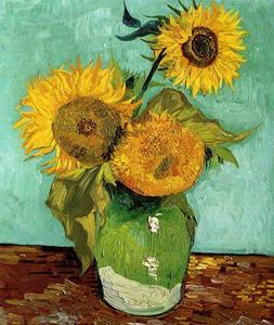 Malen nach Vorlage - Sonnenblumen | Acryl, Bleistift