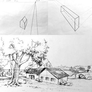 Grundlagen der Perspektive | Zeichnen, Bleistift